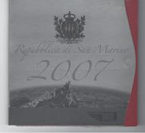 SAN MARINO EUROMUNTEN BU-set 2007 -  VOLLEDIGE REEKS + 5 EURO ZILVER - San Marino