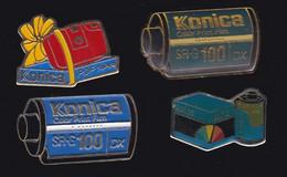 67112-Lot De 4 Pin's.Photo.Konica - Photography