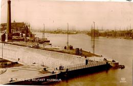 NORTHERN IRELAND CO ANTRIM BELFAST  ENTRANCE TO BELFAST HARBOUR + SHIPYARDS  RP - Antrim / Belfast