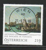 """Österreich 2020: """"Canaletto- Die Dogana In Venedig"""" Gestempelt(s. Foto) - 2011-... Ungebraucht"""