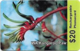 Australia - A-Comms - WA Kangaroo Paw Flower, Exp.31.07.2003, Remote Mem. 20$, Used - Australia