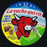 Etiquette Fromage La Vache Qui Rit 32 Portions Joue Au Jeu Des Paires Circus - Formaggio