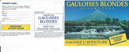 Publicité Gauloisess Blondes Allumettes Concours Fleuve Saloum1989 - Werbepostkarten
