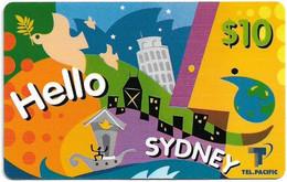 Australia - Tel.Pacific - Hello Sydney, Remote Mem. 10$, Used - Australia