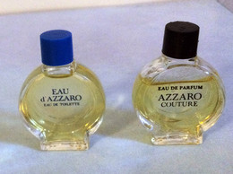 "2 Miniatures ""AZZARO  "" Eau D'Azzaro Et Azzaro Couture EDT Et EDP  3 Ml Sans Boite (71-Lo) - Miniatures Femmes (sans Boite)"