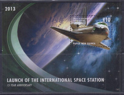 Papua New Guinea 2013 Launch Of The International Space Station S/S MNH - Papua-Neuguinea