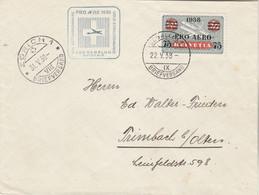 Suisse PRO AERO 1938 Vol Extraordinaire  ST GALLEN à ZURICH - Posta Aerea