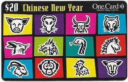 Australia - OneTel - Chinese New Year, Exp.01.12.2000, Remote Mem. 20$, Used - Australia