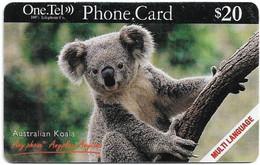 Australia - OneTel - Sydney Australian Koala (Multi Language), Exp.01.10.1999, Remote Mem. 20$, Used - Australia
