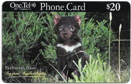 Australia - OneTel - Tasmanian Devil, Exp.01.12.1999, Remote Mem. 20$, Used - Australia