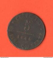 Venezia 5 Centesimi 1849 Governo Provvisorio Provisional Currency Monnaie Provisoire - Temporary Revolutionary Government