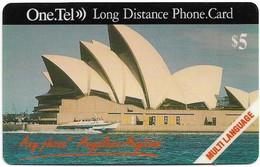 Australia - OneTel - Sydney Opera House (Multi Language), Exp.01.12.1997, Remote Mem. 5$, Used - Australia