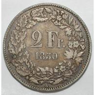 SWITZERLAND - 2 FRANCS 1850 - TRES BEAU A TRES TRES BEAU - - Suiza
