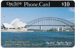 Australia - OneTel - Sydney Opera House, Exp.01.10.1999, Remote Mem. 10$, Used - Australia