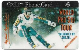 Australia - OneTel - World Pro Ski Tour (Multi Language), Exp.01.07.1999, Remote Mem. 5$, Used - Australia