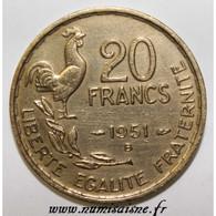 GADOURY 865 - 20 FRANCS 1951 B - TYPE G.GUIRAUD - KM 917 - TTB - L. 20 Francos
