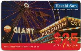Australia - Unidial - Herald Sun, Royal Melbourne Sept 18-28, Exp.30.06.1999, Remote Mem. 25$, Sample - Australia