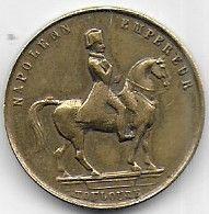 Médaille En Laiton  Napoléon Empereur Toulouse  - Place Louis Napoléon 20 Sept 1852 - Non Classificati