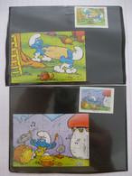 KINDER : Schtroumpfs De Peyo LOT De 2 PUZZLES  En Carton N° 109 Et 112, Complet - 1997 - Détails Sur Le Scan - Puzzles