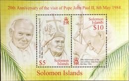 Solomon Islands 2005 Pope John Paul II Minisheet MNH - Salomoninseln (Salomonen 1978-...)