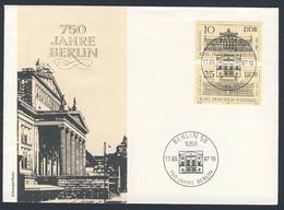 DDR Germany 1987 Brief Cover - 750 Jahre Berlin / Berlijn - Schauspielhaus / Theater / Schouwburg - Lettere