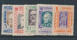SPAIN YVERT 21/25 LH - Wohlfahrtsmarken