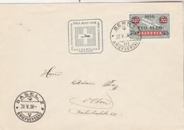Suisse PRO AERO 1938 Vol Extraordinaire  BERN à BASEL - Posta Aerea