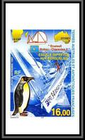 89907c Terres Australes Taaf PA N°142 Ecureuil-Poitou-Charentes 2 Manchot Penguin Non Dentelé Imperf ** MNH - Geschnitten, Drukprobe Und Abarten