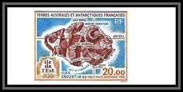 89913f Terres Australes Taaf PA N°137 Carte Ile De Crozet Island Non Dentelé Imperf ** MNH - Geschnitten, Drukprobe Und Abarten