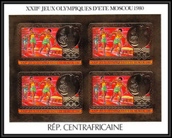 85942/ N°733 I Ba Moscou 1980 Jeux Olympiques Olympic Games Centrafricaine OR Gold ** MNH Non Dentelé Imperf Overprint - Summer 1980: Moscow