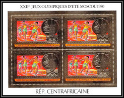 85940/ N°686 A Moscou 1980 Jeux Olympiques Olympic Games Centrafrique Centrafricaine OR Gold ** MNH Bloc 4 - Summer 1980: Moscow