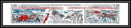 89910e Terres Australes Taaf N°223/225 Groenland Manchot Chien Penguin Dog Non Dentelé Imperf ** MNH - Geschnitten, Drukprobe Und Abarten