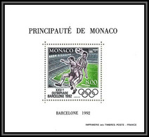 85319/ Discount Monaco Bloc BF Spécial N°16 Football Soccer Jeux Olympiques Olympic Games Barcelone 1992 ** Mnh Cote 155 - Estate 1992: Barcellona