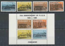 Zimbabwe N° 21/24 Caisse D'Epargne + BLOC 2 - Zimbabwe (1980-...)
