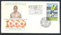 Brasil 1969 Cover: Football Fussball Soccer Calcio: PELE 1000 Goals; Torre; Jules Rimet Cup 1970 Mexico - 1970 – Mexique