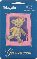 New Zealand - NZT (GPT) - Gift Cards - Teddy Bear, Get Well Soon (International Collectors Issue 1994), 1994, 5$, Used - Nuova Zelanda