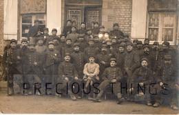 SARRY  51 CARTE PHOTO MILITAIRE GUERRE 14 18  SOLDATS DU 115 RI ( Mamers )  1ER SECTION  10EME COMP  JANVIER 1915 - Zonder Classificatie