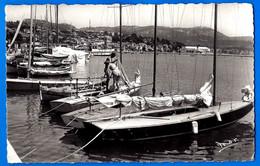 CPSM Bandol Vue D Ensemble 1952 Bateau Voilier Port Belle Carte Voyagé Animé Petit Prix Dept 83 - Porquerolles