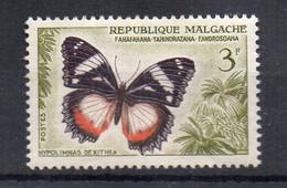 MADAGASCAR - 1960 - PAPILLONS - BUTTERFLIES - HYPOLIMNAS DEXITHEA - 3f - - Madagascar (1960-...)