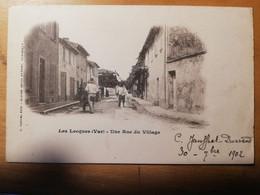 Cpa Les Lecques(83) Une Rue Du Village - Les Lecques