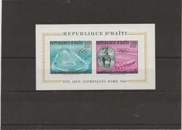 HAITI - BLOC N° 14 J.O DE ROME - NEUF SANS CHARNIERE - ANNEE 1960 - Haiti