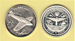 Marshal Islands 50 $ Dollars 1991 S Isole Marshall Islands Hurricane Ounce - Marshallinseln