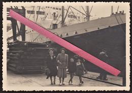 """LE HAVRE - Photo Originale Paquebot """" île De France """" En 1950 - Compagnie Générale Transatlantique - Bateau - Boats"""