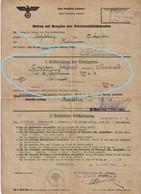 Laissez-Passer Pour Travailleur Belge : COURTOIS Godefroid De MARCINELLE De MAGDEBURG à CHARLEROI EN 1943 - 1939-45