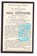 DP Emiel Schoutteten ° Dendermonde 1855 † Zegelsem Brakel 1926 X Maria Dihaut - Andachtsbilder