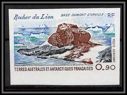 92193 Terres Australes Taaf Poste Aérienne PA N°57 Rocher Du Lion Non Dentelé Imperf ** MNH - Geschnitten, Drukprobe Und Abarten