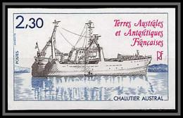 92192 Terres Australes Taaf N°100 Bateau Chalutier Austral Non Dentelé Imperf ** MNH - Geschnitten, Drukprobe Und Abarten