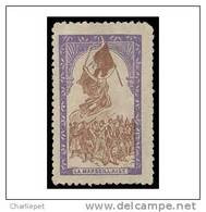 France WWI 1915 La Marseillaise Vignette  Military Heritage Poster Stamp In Purple & Brown - Philatelic Fairs