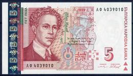 Banknotes 5 Lv - Bulgaria 1999 Year UNC - Bulgarie