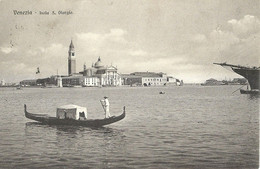 "9285 "" VENEZIA-ISOLA S. GIORGIO "" GONDOLA - FOTO ORIGINALE-CARTOLINA SPEDITA 1901 - Venezia"